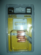арт.010266 Контактный наконечник (диам.0.9мм) для горелки EP-15, DE-15, SPOOL GUN. Для алиминиевой, стальной, нержавеющей и флюсовой проволоки (6 шт.)