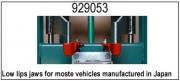 929053 Зажимные устройства с низкими краями для большинства автомобилей японии. набор